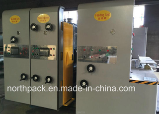 Automatic Lead-edge feeding corrugated cardboard flexo printing slotting die-cutting machine