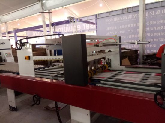 Bottom folder gluing with automatic flexo printing slotting die-cutting and auto bundling machine
