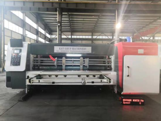 Four Color Corrugated Paper Printing Die-cutting Vibrator Stacker Machine